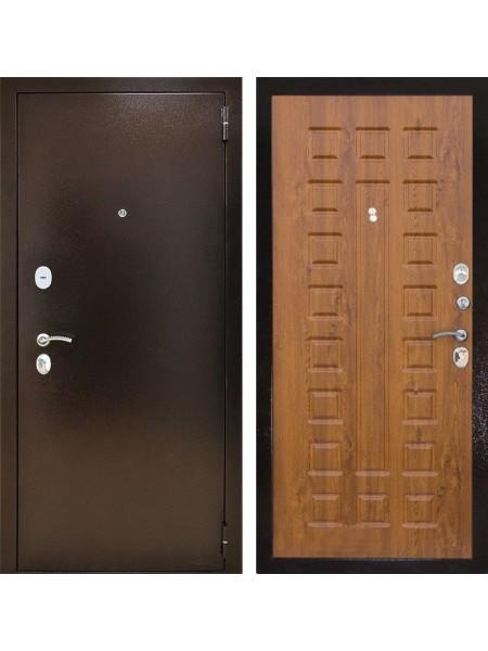 Входная металлическая дверь Снедо Патриот 2К (Медный антик / Дуб золотой)