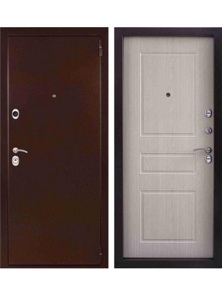 Входная стальная дверь Эталон (Антик медный / Дуб беленый)