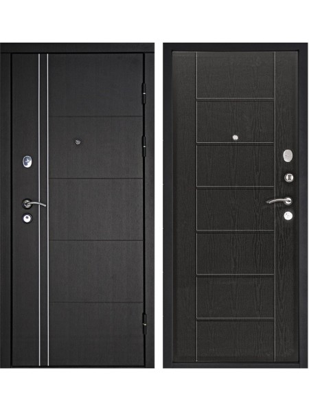 Входная металлическая дверь Дверной Континент Тепло-Люкс 3К (Венге)