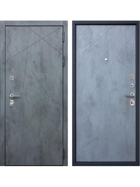 Входная металлическая дверь АСД Дуэт Б (Бетон темный / Бетон светлый)