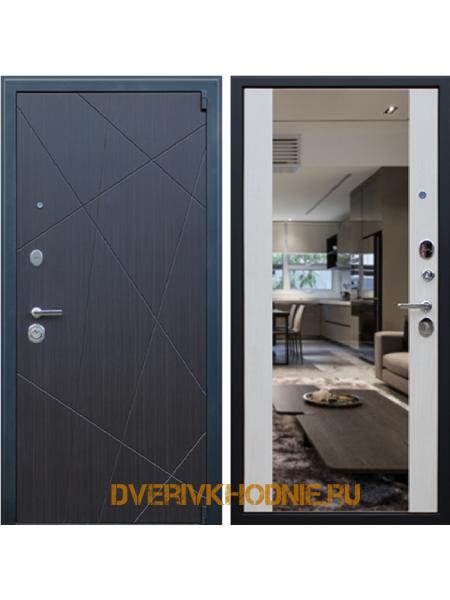 Металлическая входная дверь  «Вектор с зеркалом»