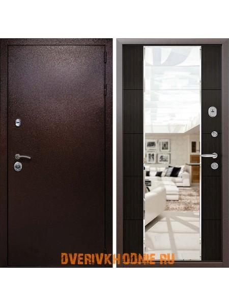 Металлическая входная дверь Райтвер Президент Зеркало Меланж темный