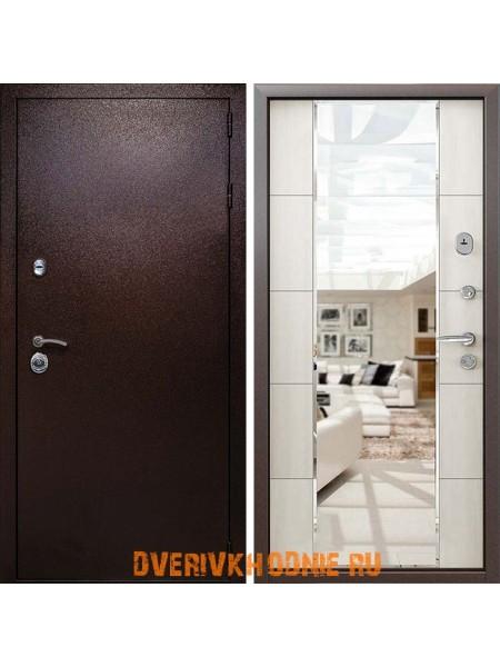Металлическая входная дверь Райтвер Президент Зеркало Меланж Светлый