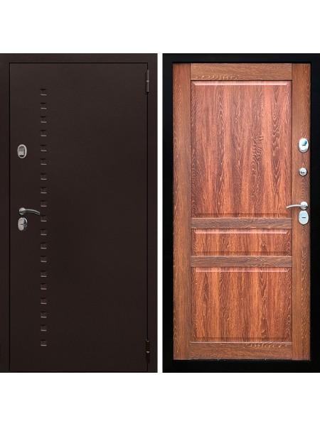 Металлическая входная дверь Престиж Термо Классик Дуб Коньячный