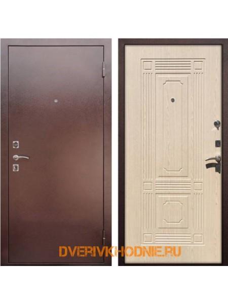Металлическая входная дверь Рекс 1 Беленый дуб