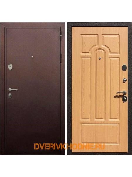 Металлическая входная дверь Рекс 5А Дуб светлый