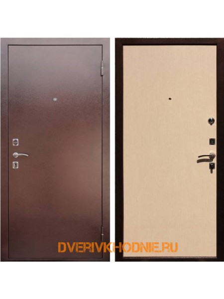 Металлическая входная дверь Рекс Эконом Беленый дуб