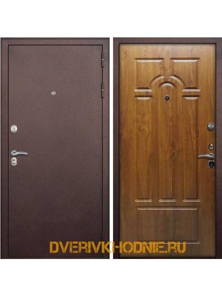 Металлическая входная дверь Рекс 7 4-х контурная Дуб золотой